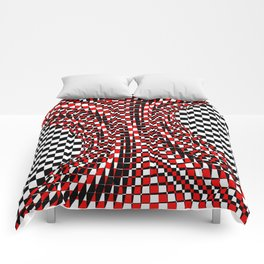 black white red 4 Comforters