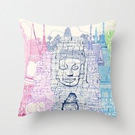 Angkor Wat & Thailand Throw Pillow