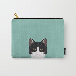 Quinn - Cute black and white cat tuxedo cat gifts for cat lady gift ideas cell phone case with cat Carry-All Pouch