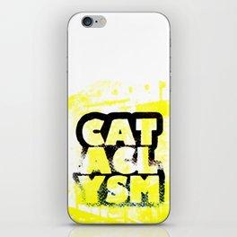 Cataclysm Yellow Print iPhone Skin