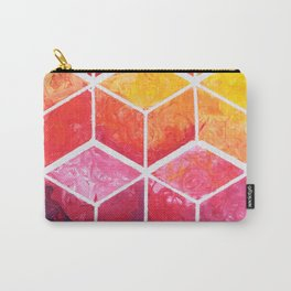 Cubes - Colorful Geometric Carry-All Pouch