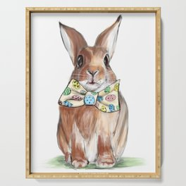 Easter Bunny wearing Bow Tie Serving Tray