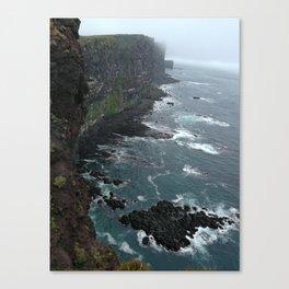 LatraBjarg cliff Canvas Print