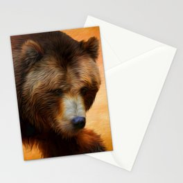 Grizzly Bear Painted Stationery Cards