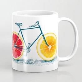 Vintage Orange Old Bike with Retro Cycle Frame Coffee Mug