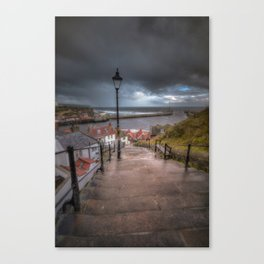 Whitby the home of DRACULAR Canvas Print