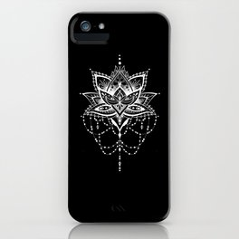 Mandala Roelie Negatief iPhone Case
