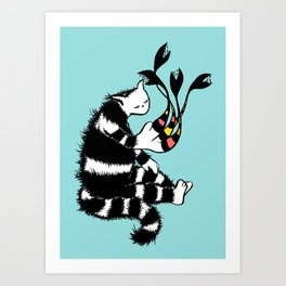 Weird Cat Character With Strange Paw Art Print