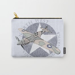 Vintage Flying Airplane Service Carry-All Pouch