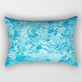 Crystal blue water creating an abstract pattern with waves and ripples Rectangular Pillow