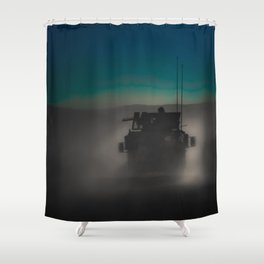 Heading off to a night mission.  Shower Curtain