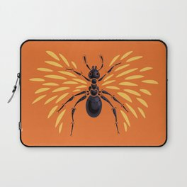 Winged Ant Fiery Orange Laptop Sleeve