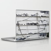 the wire Laptop & iPad Skins featuring Wire  by Ethna Gillespie