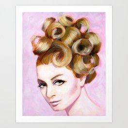 Sixties girl with bouffant Art Print