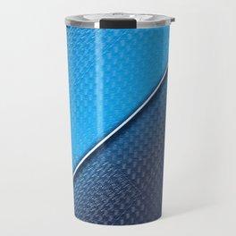 Abstract blue metallic gradient texture Travel Mug