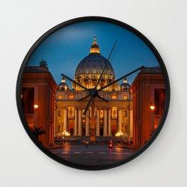 Basilica Papale di San Pietro in Vaticano - ROME Wall Clock