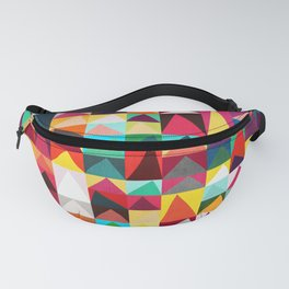 Abstract Geometric Mountains Fanny Pack