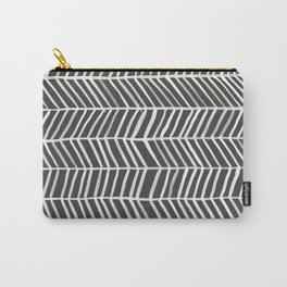 Herringbone – Black & White Carry-All Pouch