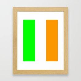 flag of ireland 5 -ireland,eire,airlann,irish,gaelic,eriu,celtic,dublin,belfast,joyce,beckett Framed Art Print