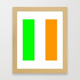 flag of ireland 5 -ireland,eire,airlann,irish,gaelic,eriu,celtic,dublin,belfast,joyce,beckett Framed Art Print