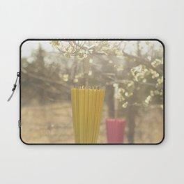 Pink Lemonade Parasol, Umbrella, Nature, Bokeh  Laptop Sleeve