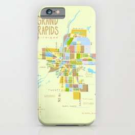 Illustrated Grand Rapids Map iPhone Case