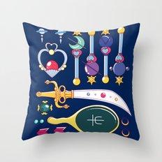 Outer Senshi Starter Kit  Throw Pillow