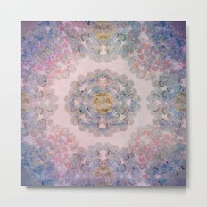 Butterfly Mandala Metal Print