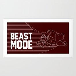 Beast Mode Art Print