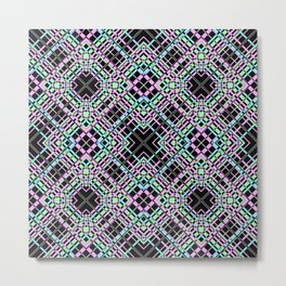 Geometric pattern.Cell oblique .  1 Metal Print