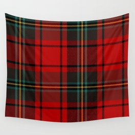 Lumberjack | Red and Green Buffalo Plaid Pattern | Christmas Red Pattern  Wall Tapestry