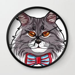 Maine Coon Cat Face Cats Love cute funny lovely Wall Clock