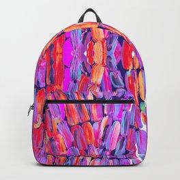 Ultraviolet Purple Sugarcane Pattern Backpack