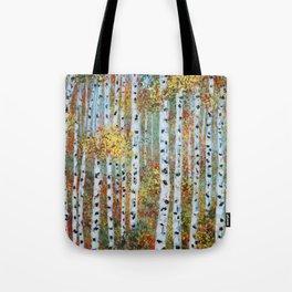 Last Hurrah, Aspen Tree Painting Tote Bag