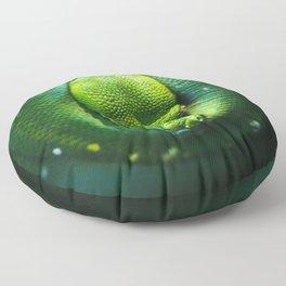 Emerald Tree Boa Floor Pillow
