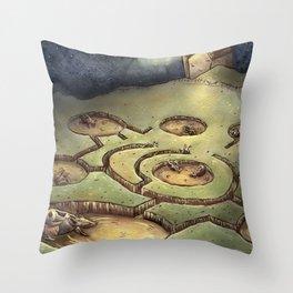 Dark Circles Throw Pillow