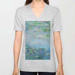 Monet Water Lilies / Nymphéas 1906 Unisex V-Neck