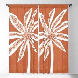 mod palms, burnt orange Blackout Curtain