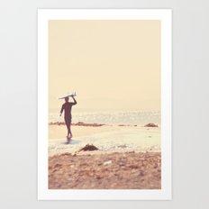 A Visceral Need. Surfer photograph Art Print