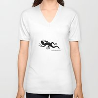 lizard V-neck T-shirts featuring Lizard by rob art | patterns