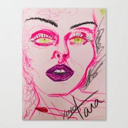 self portrait in pink (tara savelo) Canvas Print