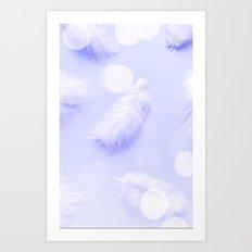 feathers Violet light Art Print