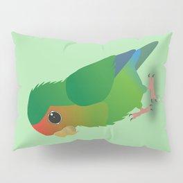 Cute peach faced lovebird Pillow Sham