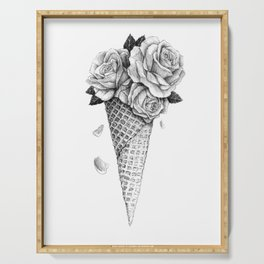Ice Cream Roses Serving Tray