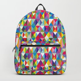 Mid Century Modern Colorful Triangle Print Backpack