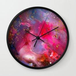 Rose Crystal Galaxy Wall Clock