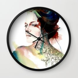 blossoming tattoos Wall Clock