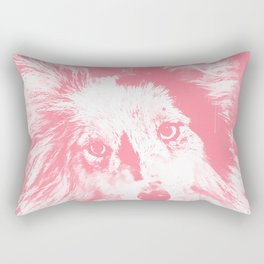 border collie dog 5 portrait wspw Rectangular Pillow