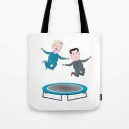 Trump and Kim Jong Un Tote Bag
