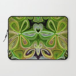 Green Lotus Large Laptop Sleeve